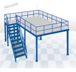 ชั้นลอยน็อคดาวน์ ขนาดเล็ก (Mezzanine Floor System)